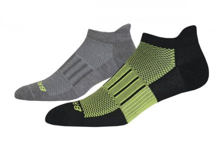 Accessori | Ghost Midweight 2-Pack -Calzini Asphalt/Fluoro Lime | Brooks Donna/Uomo