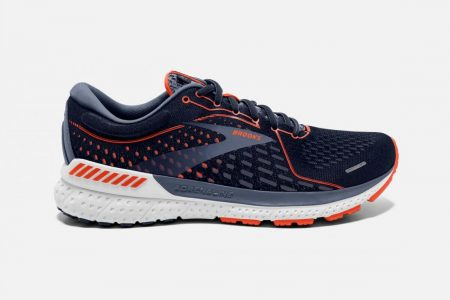 Corsa su strada | Adrenaline GTS 21 -Scarpe da Corsa Navy/Red Clay/Gray | Brooks Uomo
