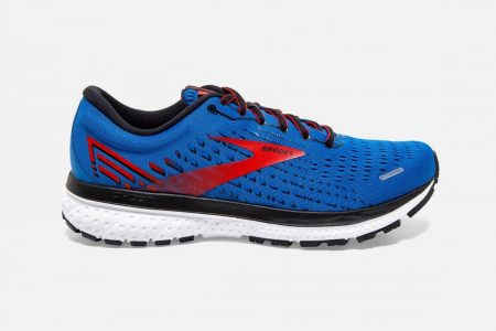 Corsa su strada | Ghost 13 -Scarpe da Corsa Blue/Red/White | Brooks Uomo
