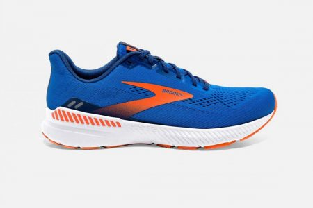 Corsa su strada | Launch GTS 8 -Scarpe da Corsa Blue/Orange/White | Brooks Uomo