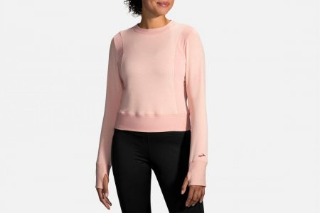Strati esterni | Notch Thermal a maniche lunghe -Maglie da corsa Heather Flamingo/Flamingo | Brooks Donna