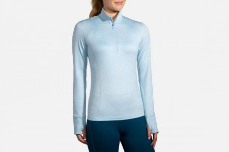 Tops | Dash 1/2 Zip -Maglie da corsa Heather Arctic | Brooks Donna