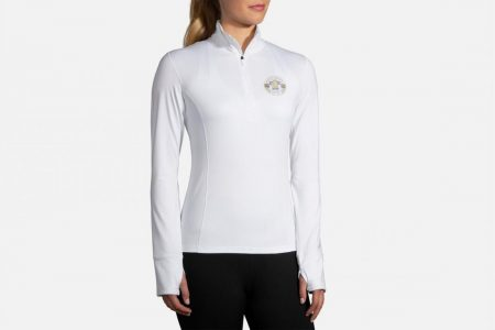 Tops | Dash 1/2 Zip -Maglie da corsa White/Team Brooks | Brooks Donna