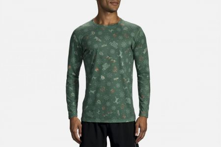 Tops | Distance Graphic Long Sleeve -Maglie da corsa Run Jolly | Brooks Uomo