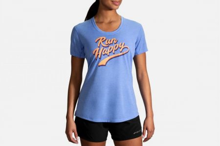 Tops | Distance Graphic Tee -Maglie da corsa Dusk/Run Happy | Brooks Donna