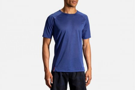 Tops | Ghost Short Sleeve -Maglie da corsa Heather Cobalt | Brooks Uomo