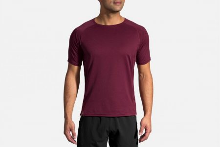 Tops | Ghost Short Sleeve -Maglie da corsa Heather Merlot | Brooks Uomo