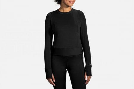 Tops | Notch Thermal a maniche lunghe -Maglie da corsa Black | Brooks Donna