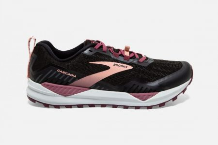 Trail | Cascadia 15 -Scarpe Trail Donna Black/Ebony/Coral Cloud | Brooks Donna