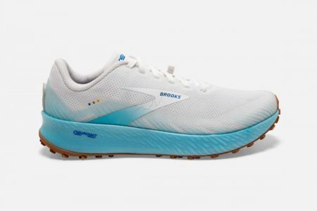 Trail | Catamount -Scarpe Trail Donna White/Iced Aqua/Blue | Brooks Donna