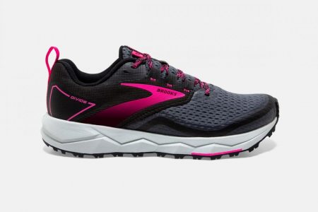 Trail | Divide 2 -Scarpe Trail Donna Black/Ebony/Pink | Brooks Uomo/Donna